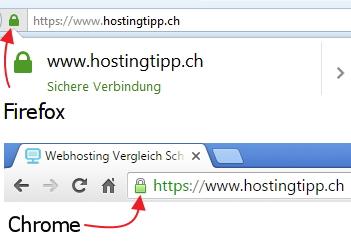 So erkennen Sie ob eine Seite über HTTPS läuft