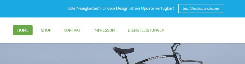 Design Update für Ihre Jimdo Seite verfügbar
